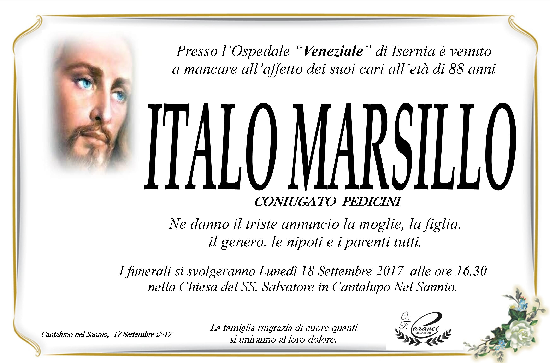 Italo Marsillo, 17/09/2017, Cantalupo nel Sannio (IS) – Onoranze Funebri Caranci