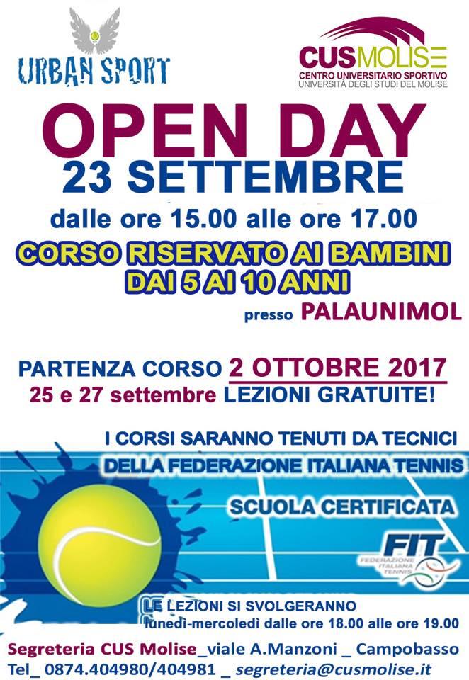 Cus, tennis in rampa di lancio. Sabato l'Open day con la Urban Sport