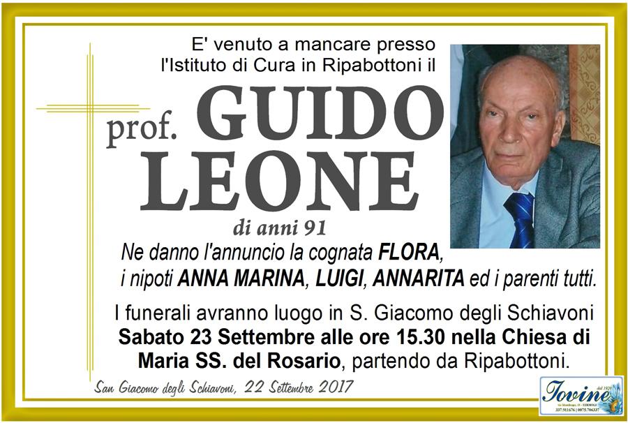 Guido Leone – 22/09/2017 – San Giacomo degli Schiavoni (CB) – Onoranze funebri Iovine
