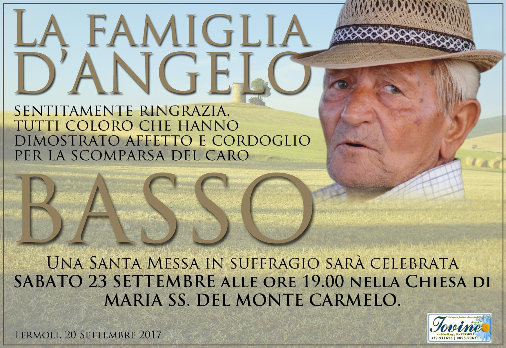 Ringraziamento Famiglia D'Angelo – Termoli