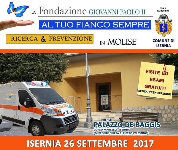 La Carovana della Salute fa tappa a Isernia, domani esami oncologici e riabilitativi gratuiti