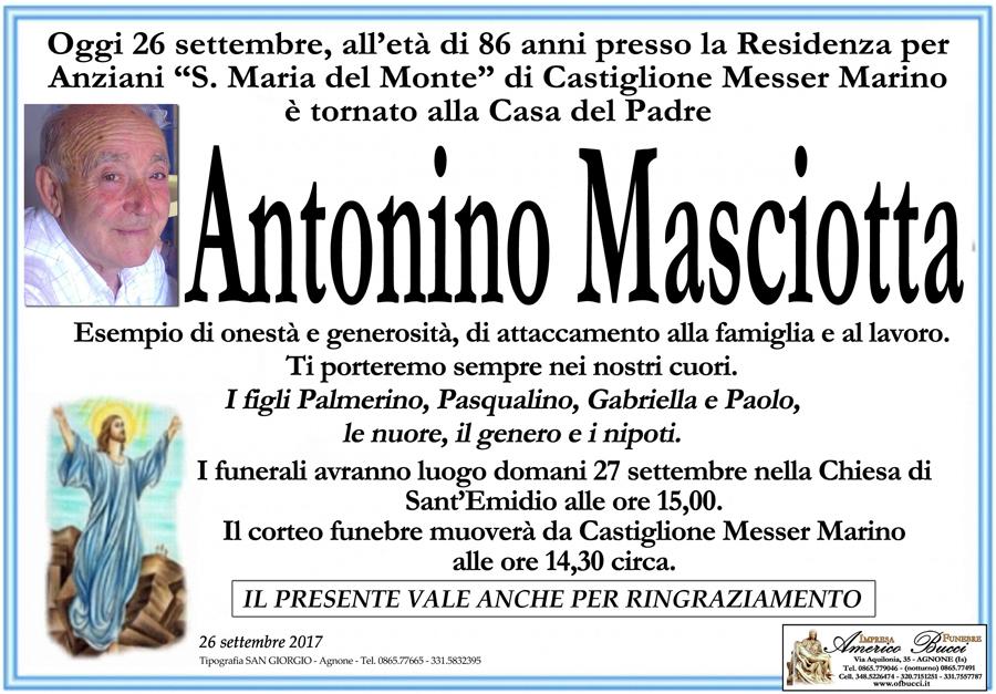 Antonino Masciotta – 26/09/2017 – Agnone (IS) – Impresa funebre Americo Bucci