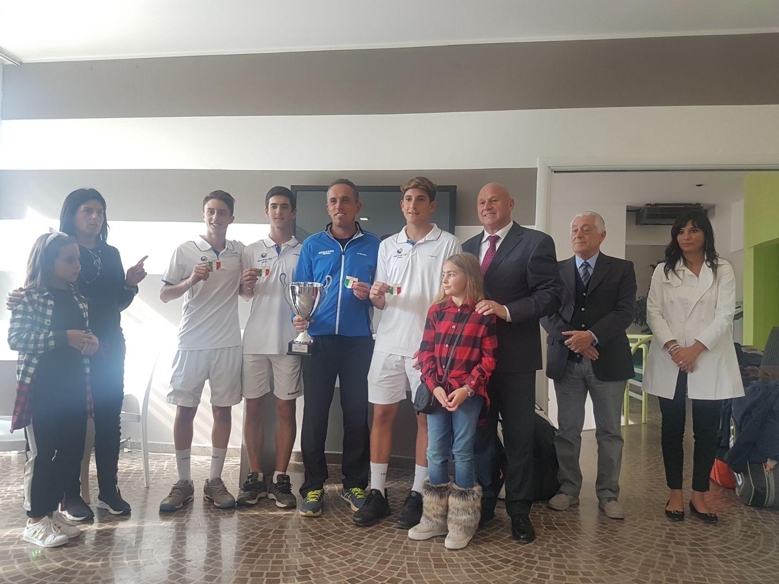 Campobasso, lo 'Junior Tennis Perugia' vince il Campionato Nazionale a squadre (under 16, maschile)