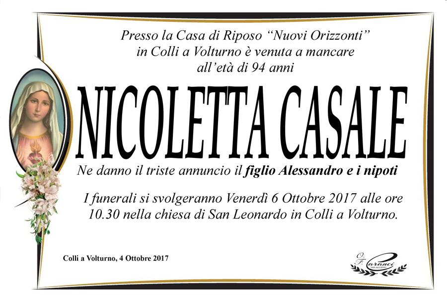 Nicoletta Casale – 04/10/2017 – Colli a Volturno (IS) – Onoranze funebri Caranci