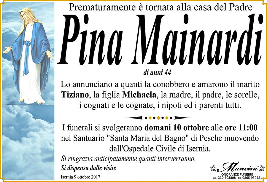 Pina Mainardi – 09/10/2017 – Isernia – Onoranze funebri Mancini