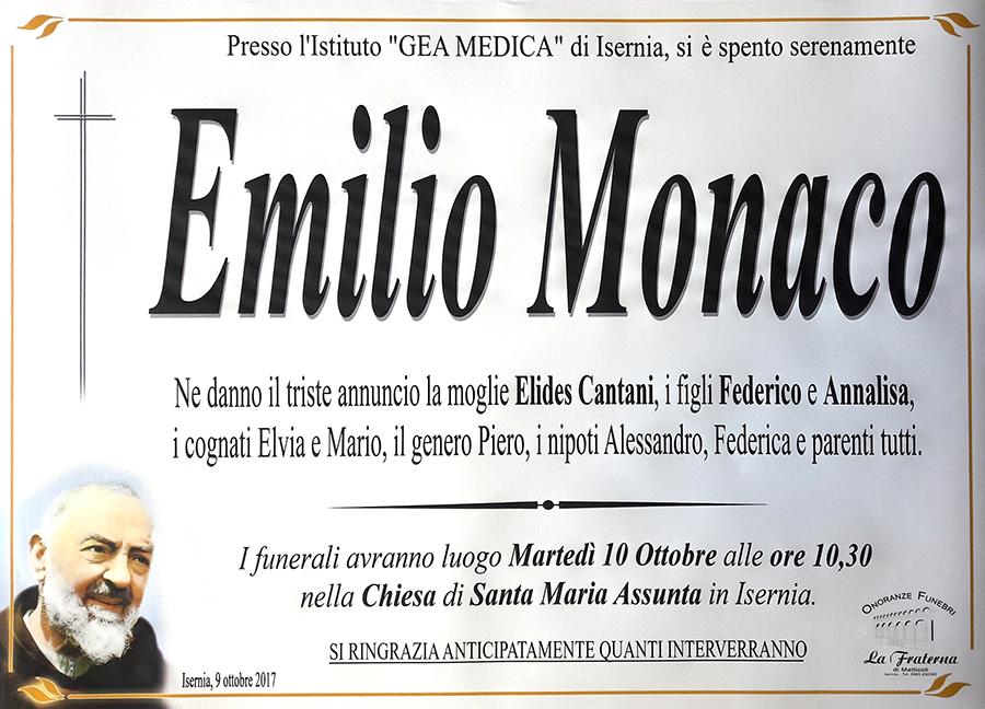 Emilio Monaco – 09/10/2017 – Isernia – Onoranze funebri La Fraterna