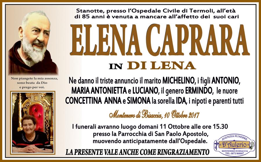 Elena Caprara – 10/10/2017 – Montenero di Bisaccia – Agenzia Funebre D'Aulerio
