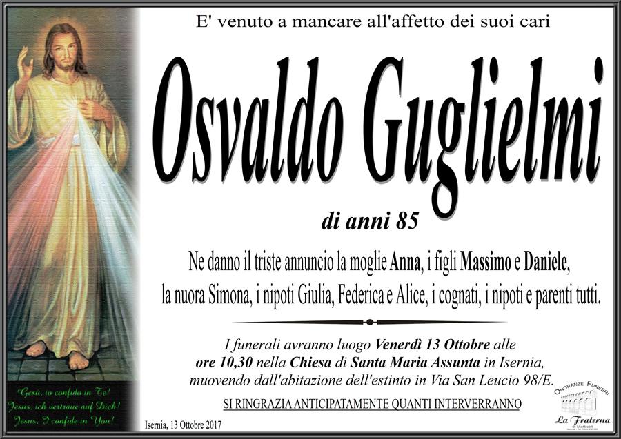 Osvaldo Guglielmi – 12/10/2017 – Isernia – Onoranze funebri La Fraterna