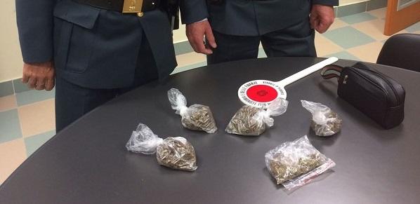 Droga, un arresto. Sotto sequestro hashish e marijuana