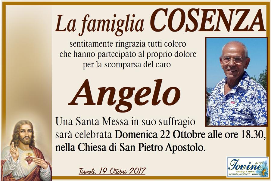 Ringraziamento Famiglia Cosenza – Termoli
