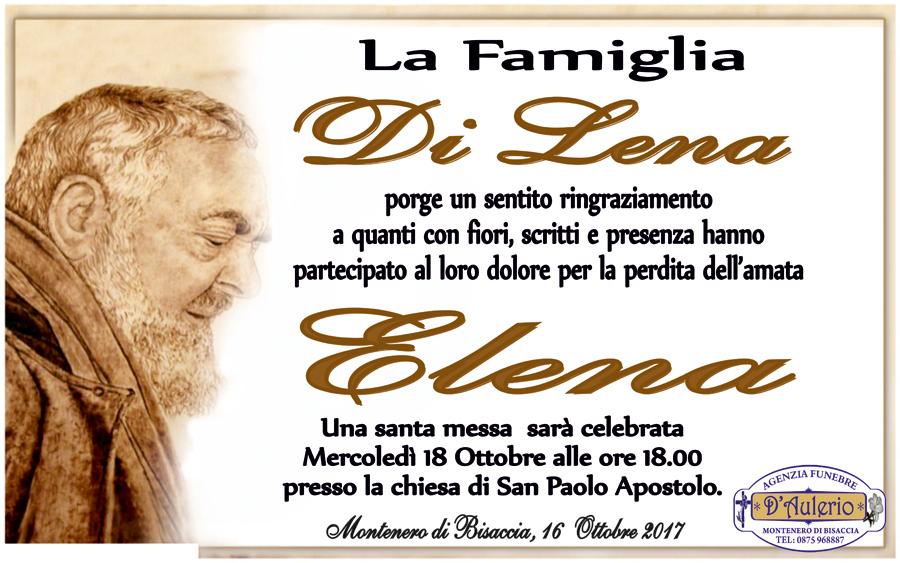 Ringraziamento Famiglia Di Lena – Montenero di Bisaccia (CB)