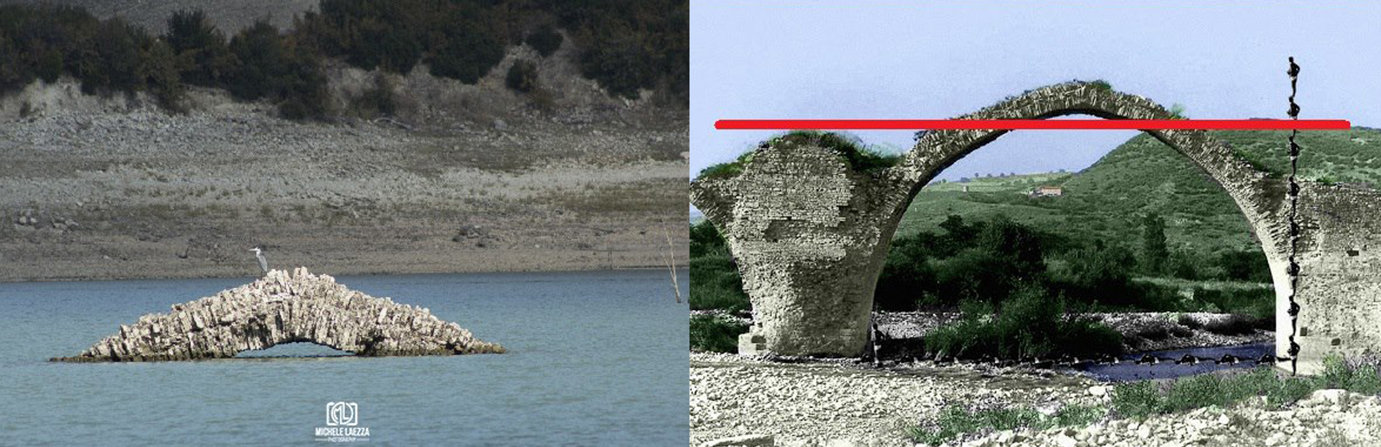 Lago di Guardialfiera e siccità, si 'rivede' il ponte di Annibale