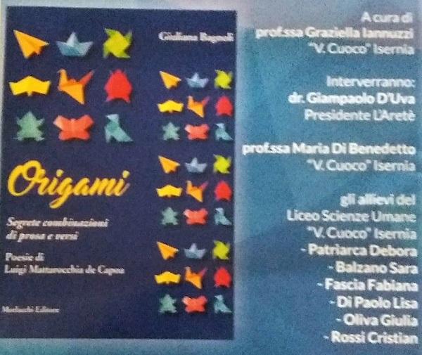 Poesia, si presenta il libro 'Origami'