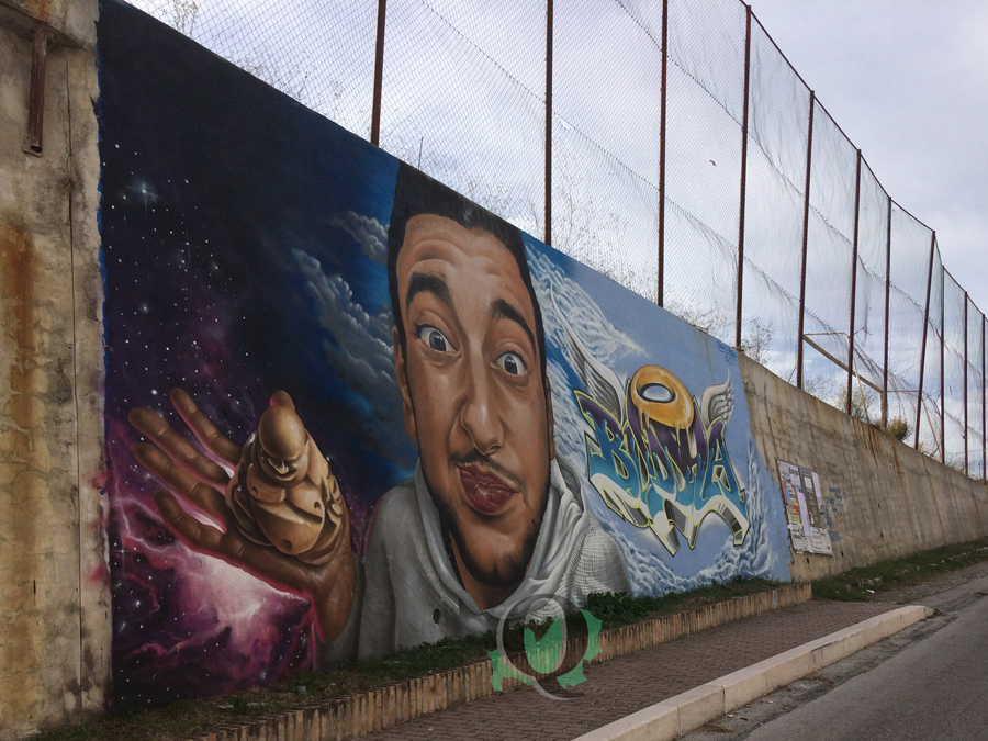 Un murales in ricordo di Gianmichele Panichella, il giovane 'Buddha' scomparso ad agosto
