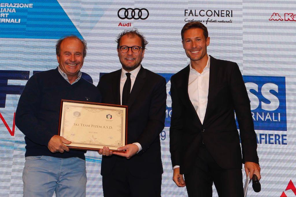 Progetto Ski Pass, Antonello Merola premiato dal ministro allo Sport Lotti