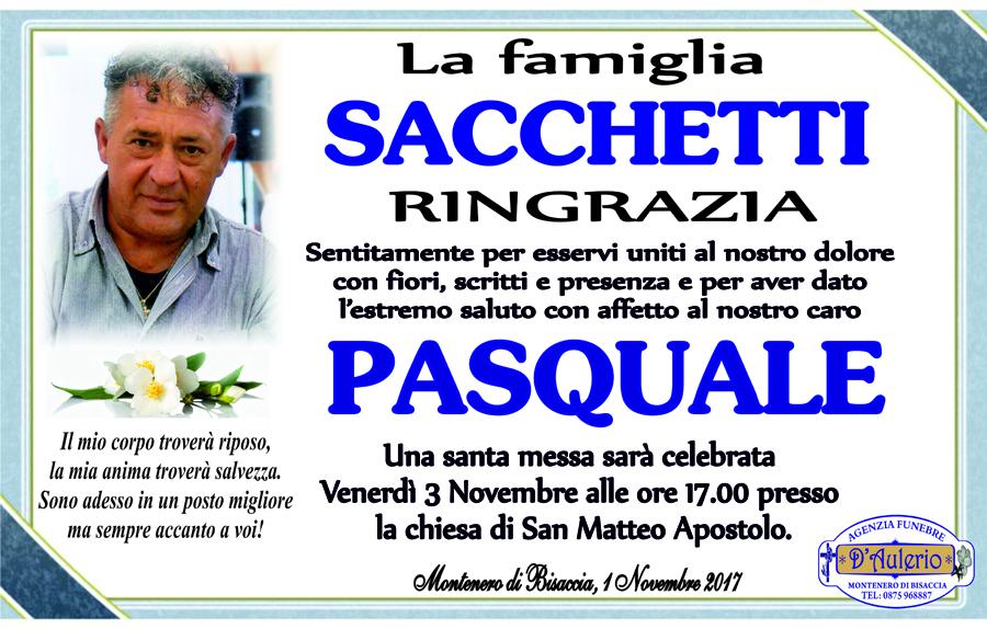 Ringraziamento Famiglia Sacchetti – Montenero di Bisaccia (CB)