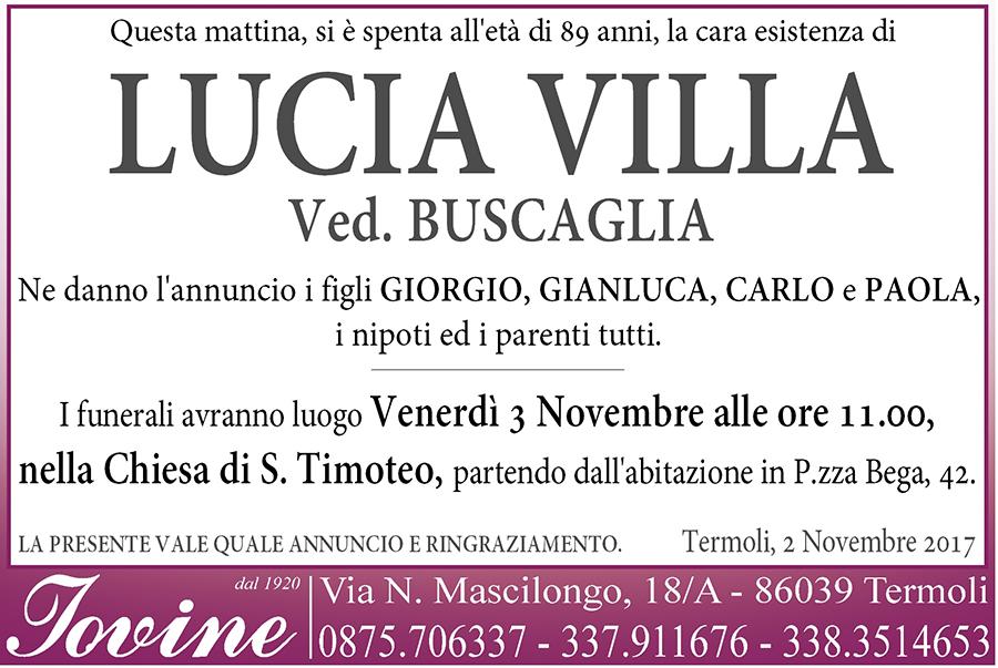 Lucia Villa – 02/11/2017 – Termoli – Onoranze funebri Iovine