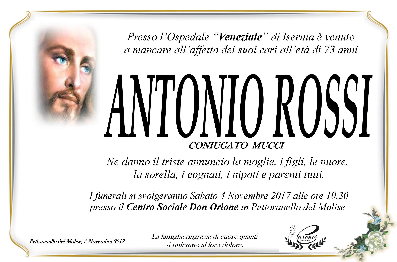 Antonio Rossi – 02/11/2017 – Pettoranello del Molise (IS) – Onoranze Funebri Caranci