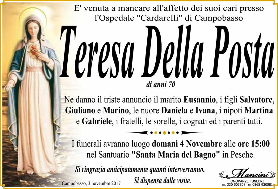 Teresa Della Posta – 03/11/2017 – Campobasso – Onoranze funebri Mancini