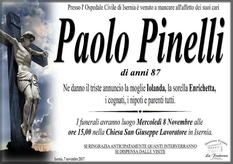 Paolo Pinelli – 07/11/2017 – Isernia – Onoranze funebri La Fraterna