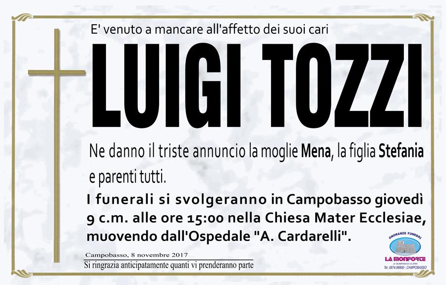 Luigi Tozzi – 08/11/2017 – Campobasso – Onoranze funebri La Monforte