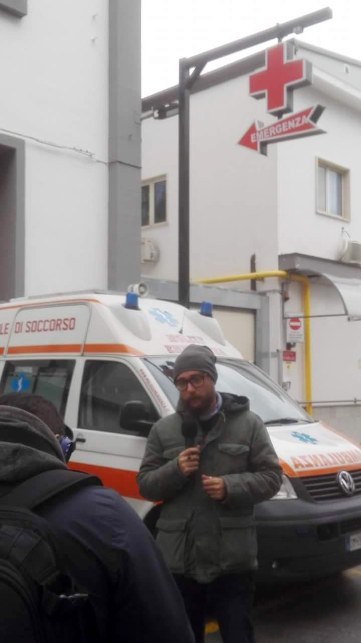 L'inviato di Striscia Pinuccio all'ospedale di Agnone