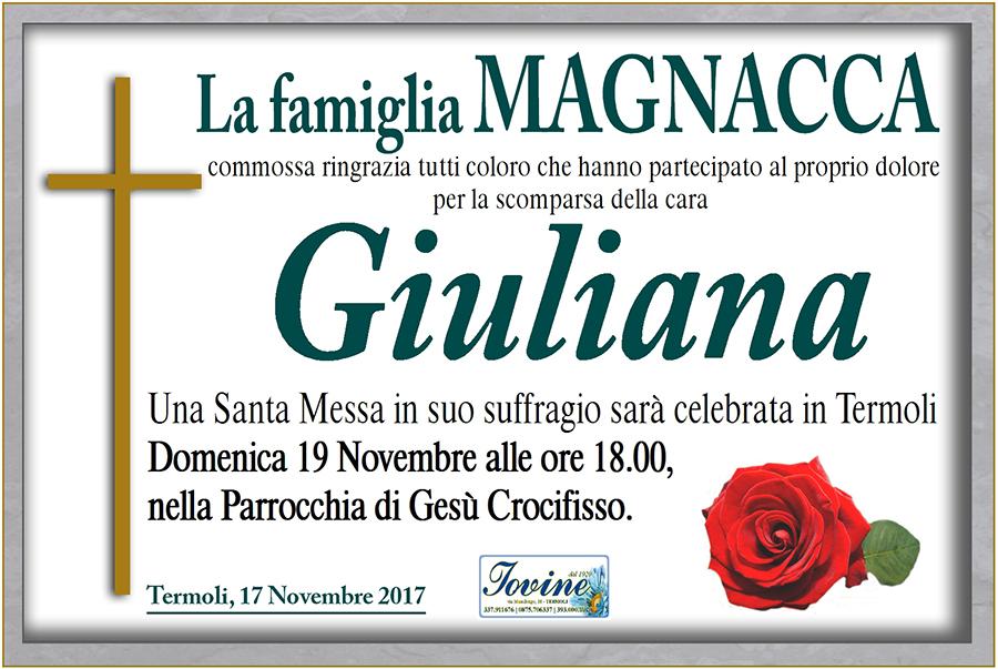 Ringraziamento Famiglia Magnacca – Termoli