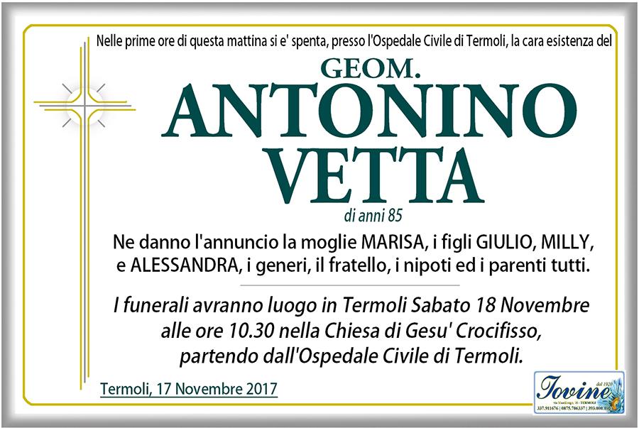 Antonino Vetta – 17/11/2017 – Termoli – Onoranze funebri Iovine