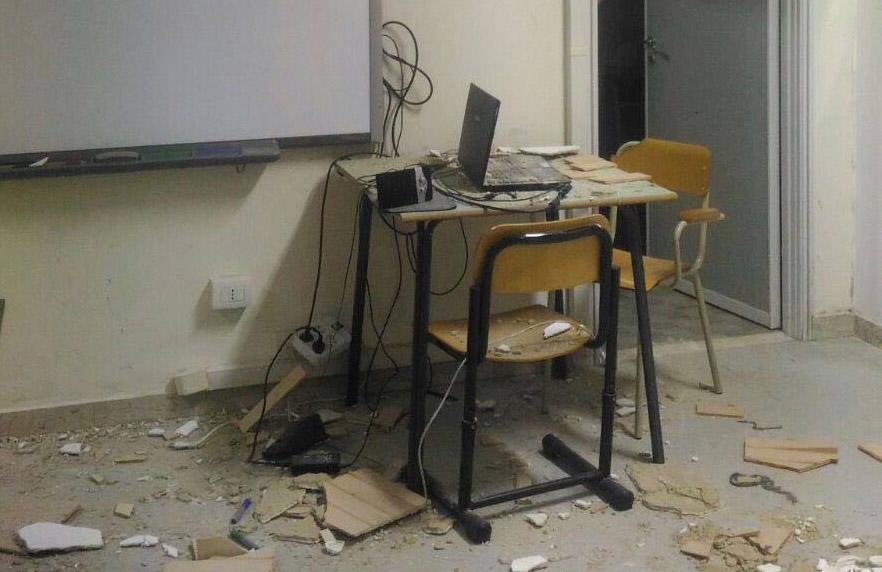 Crollo Scuola Montini, tecnici a lavoro