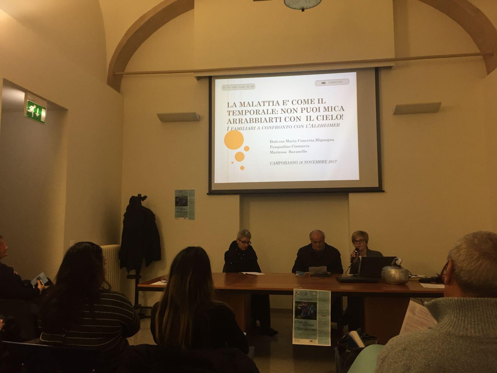 L'Alzheimer e i servizi Asrem in un convegno a Campobasso