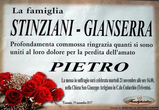Ringraziamento Famiglie Stinziani e Gianserra – Trivento