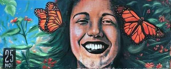 Isernia dice 'no' al femminicidio con il murales di Alaniz
