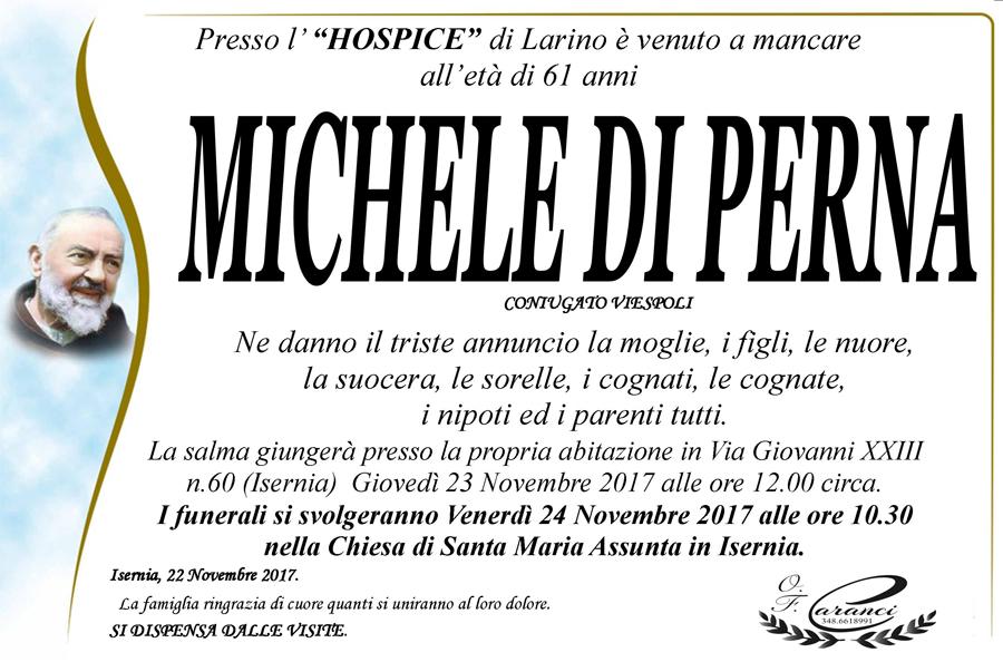 Michele Di Perna – 22/11/2017 – Isernia – Onoranze funebri Caranci
