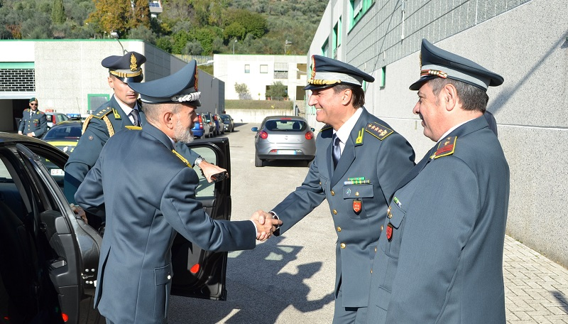 Guardia di Finanza, il generale Ricozzi in visita alla Tenenza di Venafro