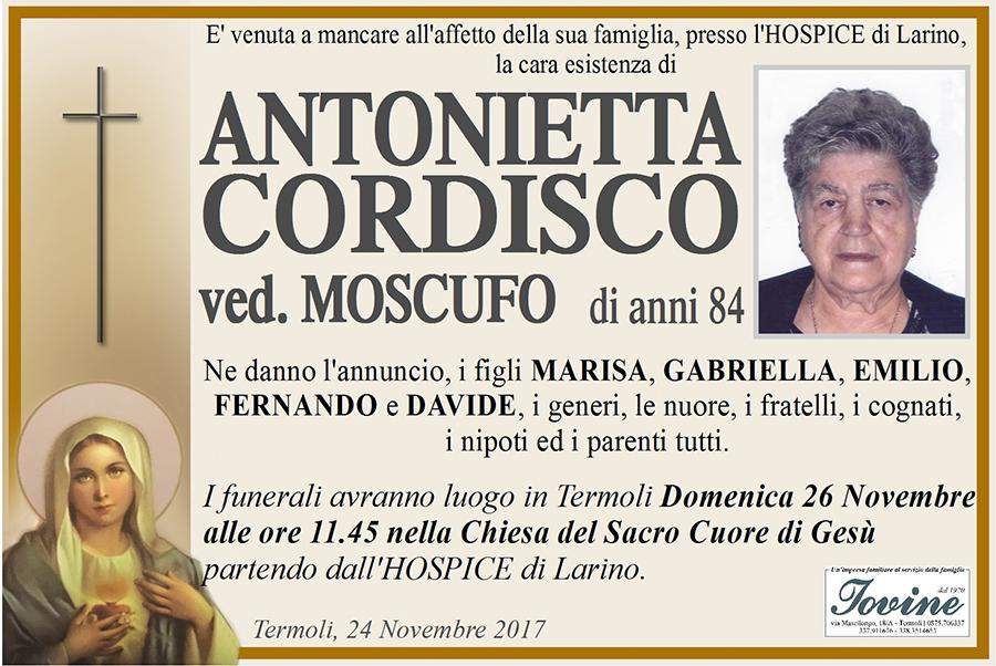 Antonietta Cordisco – 24/11/2017 – Termoli – Onoranze funebri Iovine