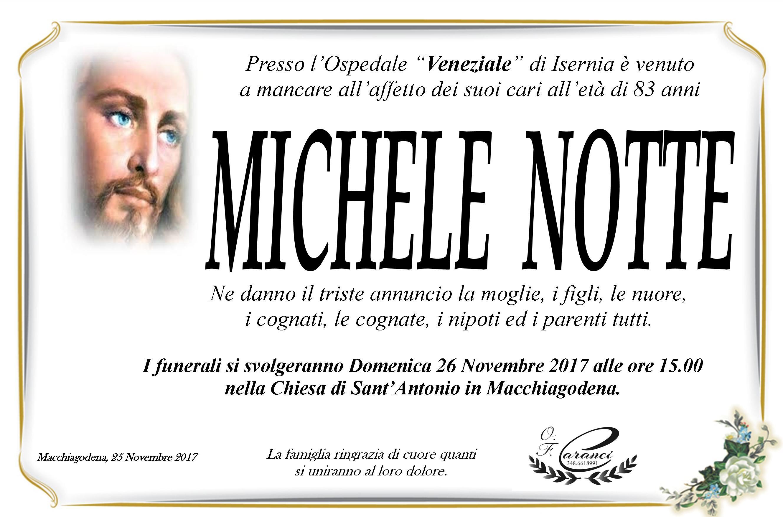 Michele Notte, 25/11/2017, Macchiagodena (IS) – Onoranze Funebri Caranci