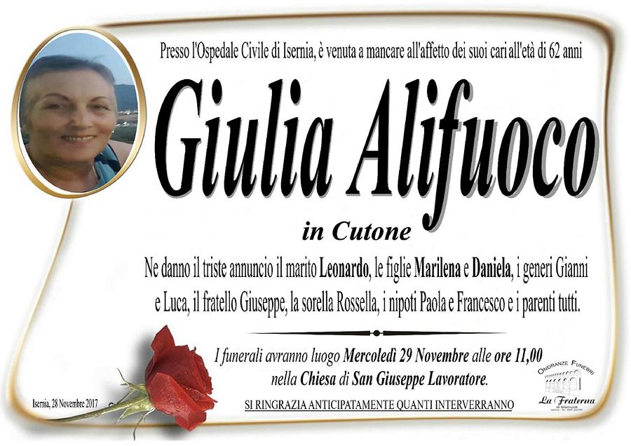 Giulia Alifuoco – 28/11/2017 – Isernia – Onoranze funebri La Fraterna