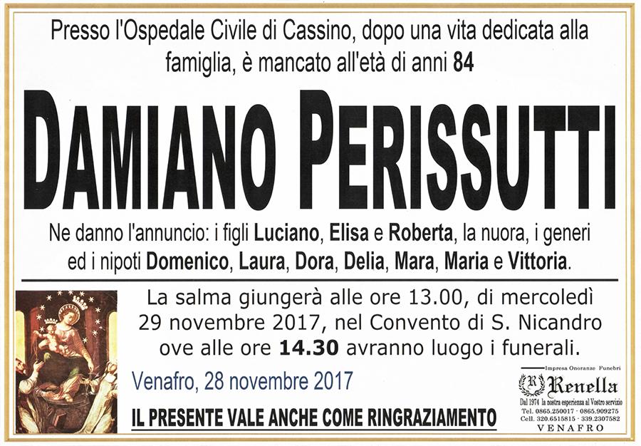 Damiano Perissutti – 28/11/2017 – Venafro – Impresa Onoranze funebri Renella