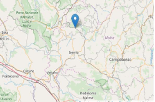 Nuova scossa sismica nell'Alto Molise