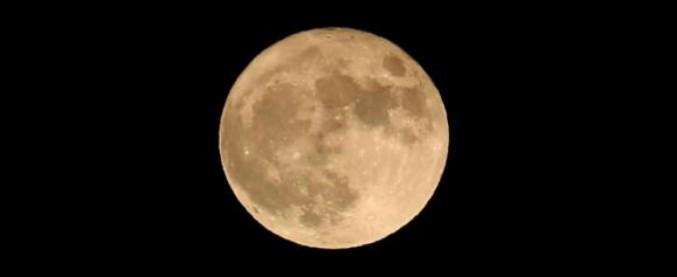 Il 3 dicembre è la notte della 'Superluna' piena, l'unica visibile del 2017