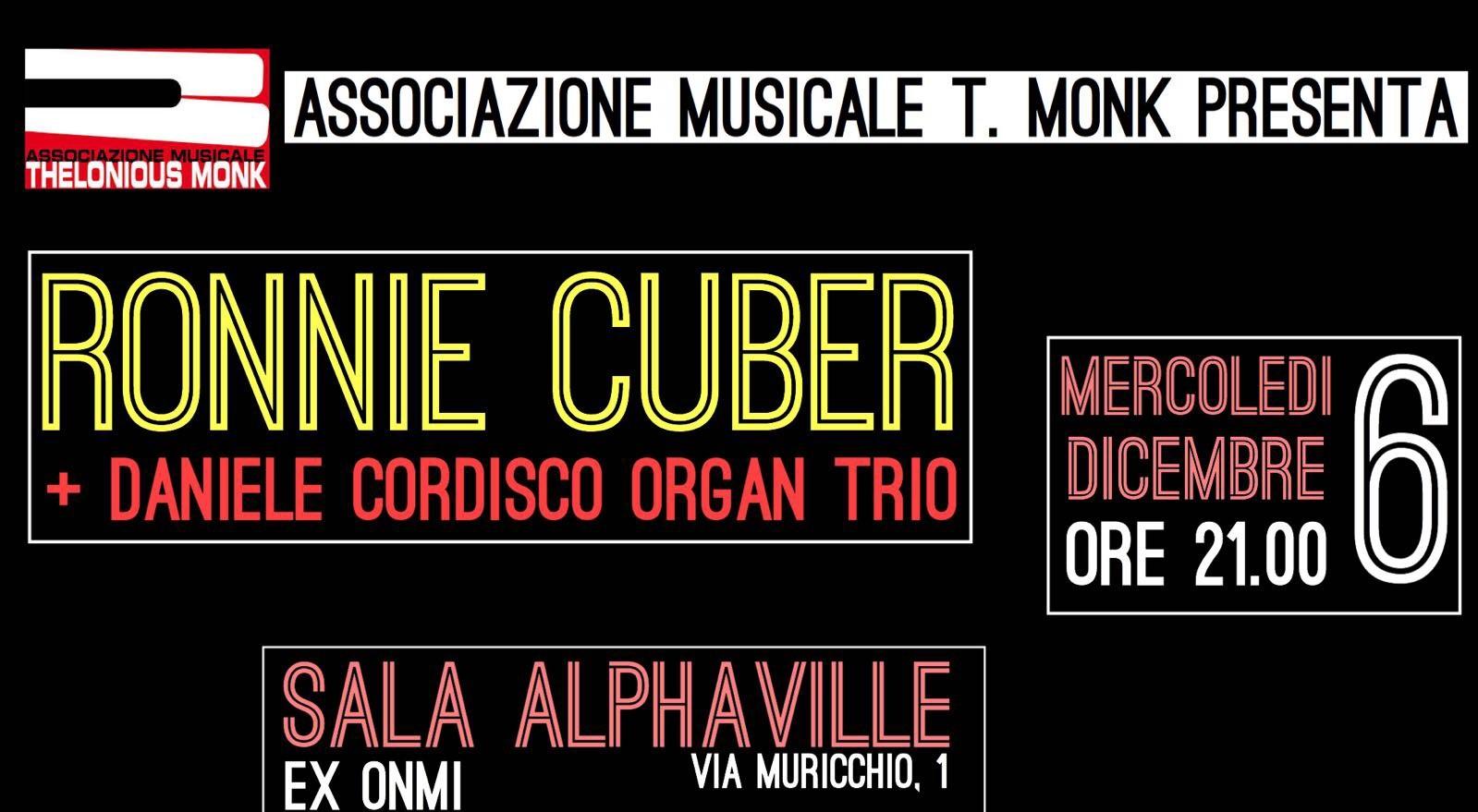 Il colosso del jazz Ronnie Cuber di scena all'Alphaville con il chitarrista molisano Daniele Cordisco