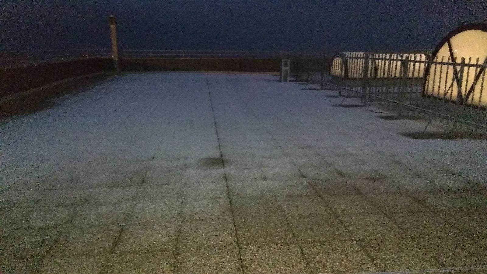 La 'dama bianca' non si è fatta attendere, prima neve in città