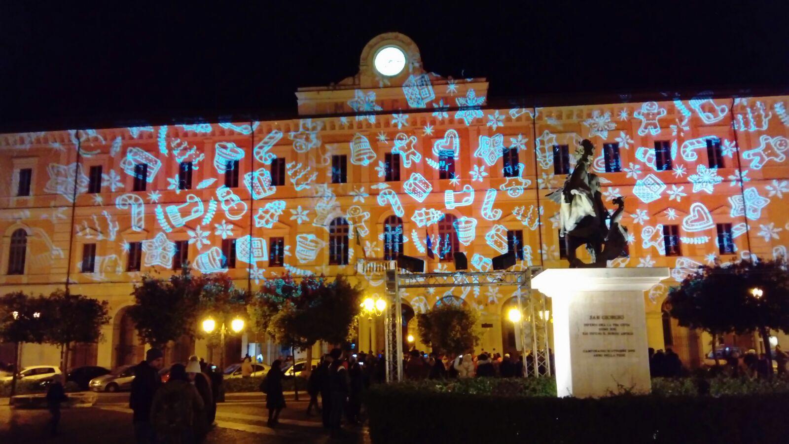 'Campobasso Alive': la storia della città in 3D sulla facciata del Comune