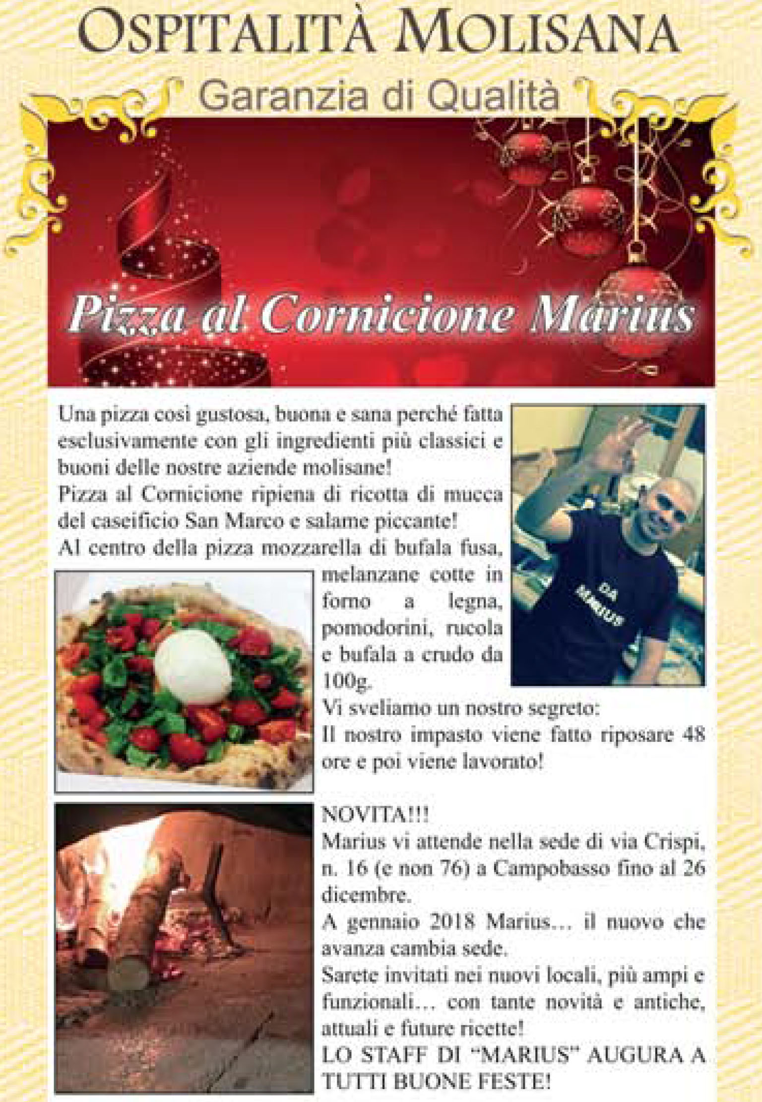 OSPITALITA' MOLISANA – Pizza al Cornicione Marius