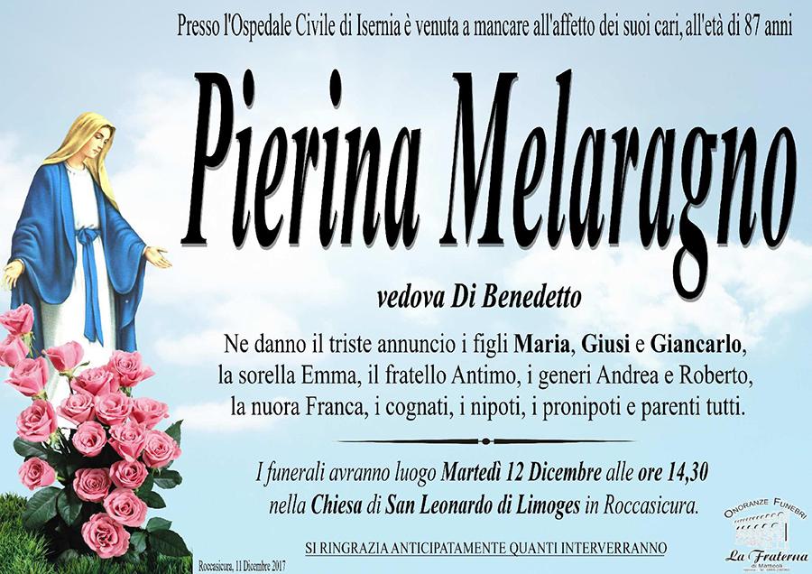 Pierina Melaragno – 11/12/2017 – Roccasicura (IS) – Onoranze funebri La Fraterna