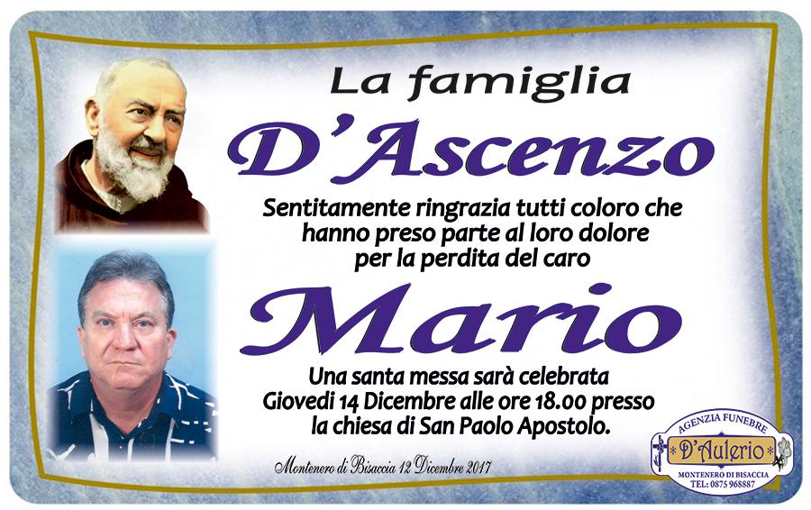Ringraziamento Famiglia D'Ascenzo – Montenero Di Bisaccia (CB)