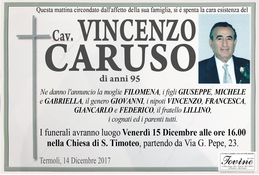 Vincenzo Caruso – 14/12/2017 – Termoli – Onoranze funebri Iovine