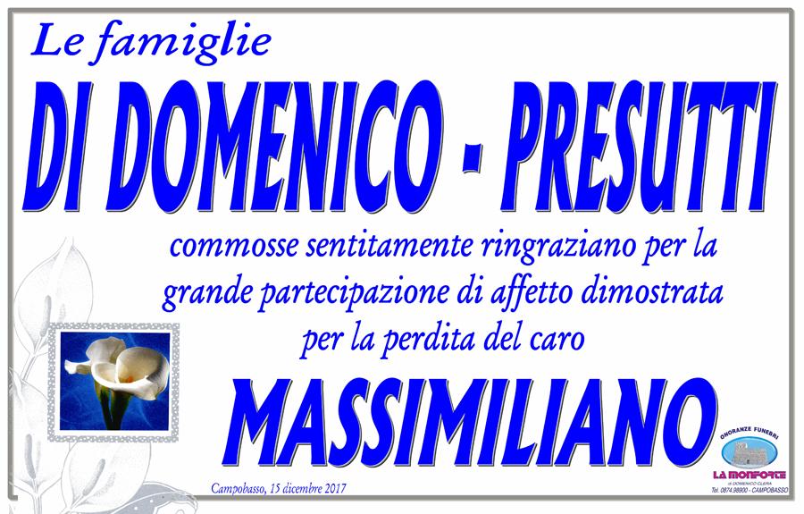 Ringraziamento Famiglie Di Domenico-Presutti – Campobasso