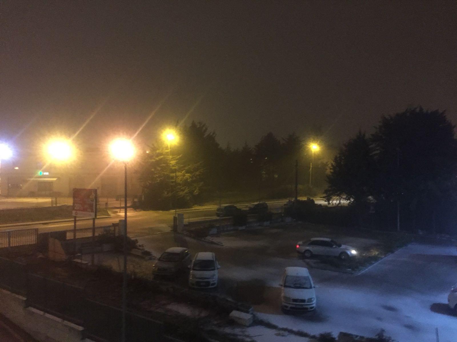 Prima neve in Molise, colpiti diversi centri: spolverata sul capoluogo di regione (VIDEO)