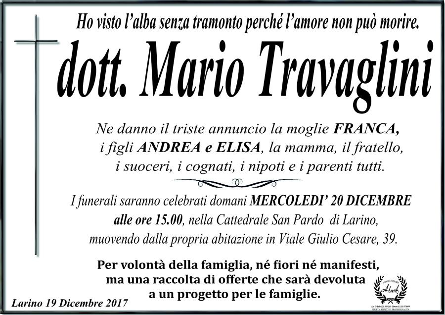 Mario Travaglini – 19/12/2017 – Larino (CB) – Agenzia funebre Alma